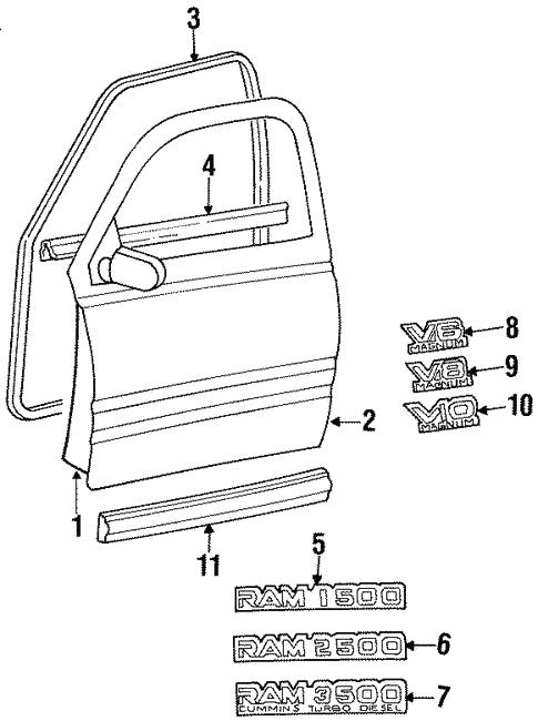 Door Components For 1997 Dodge Ram 1500
