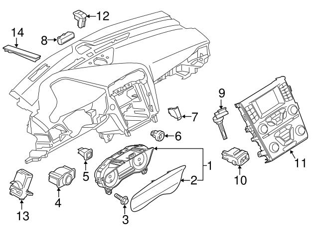 Genuine Ford Sun Load Sensor DG9Z-13A018-E
