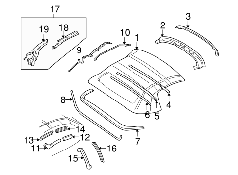 Oem Cover Components For 2001 Chevrolet Corvette