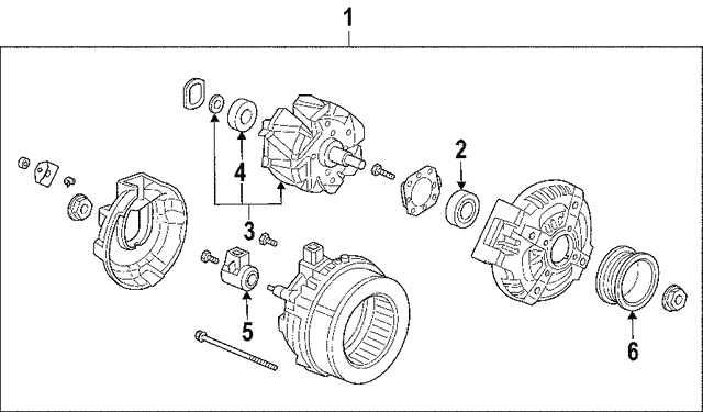Alternator Assembly (Delphi) - Honda (31100-RCA-A01)