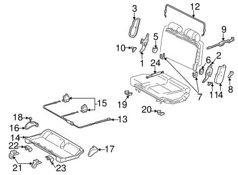 TOYOTA Genuine 71873-0C040-B1 Seat Cushion Shield