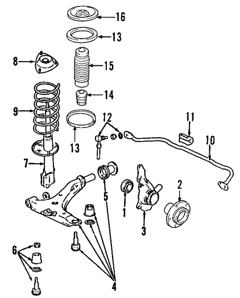 Santa Fe Front Suspensionsuspension Components Parts