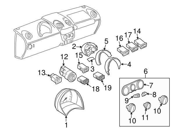 2003 2009 Volkswagen Beetle Headlamp Switch 1c0 941 531 E 01c