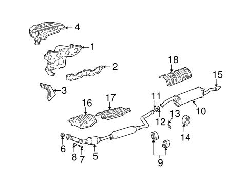 genuine oem exhaust components parts for 2006 scion xb