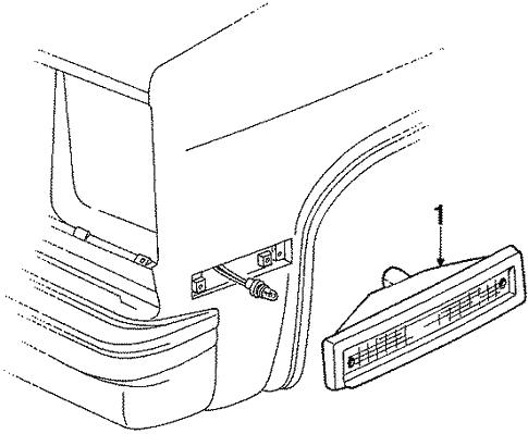 Oem Side Lamps For 1989 Chevrolet Suburban R1500