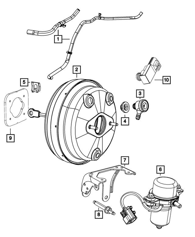 Genuine Chrysler 55038431AB Fuel Vacuum Hose