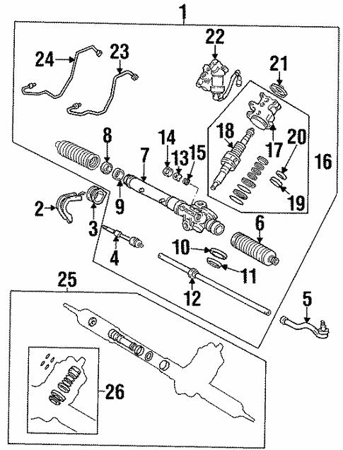 Steering Gear Linkage For 1999 Lexus Sc300
