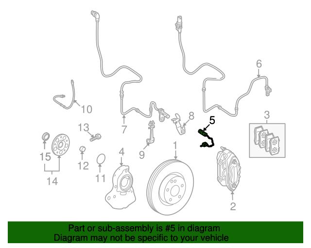 For Mercedes R171 W204 W209 Disc Brake Pad Wear Sensor Bowa 171 540 06 17