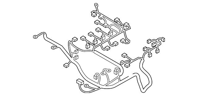 mazda engine harness  nh50