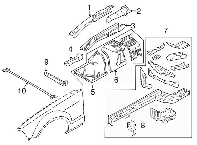 Genuine Ford Tie Bar AR3Z-16A200-A