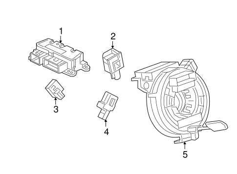 electrical/air bag components for 2016 chevrolet volt #1