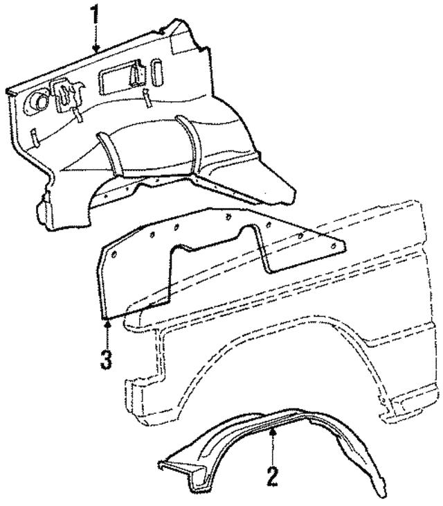Mitsubishi Fender Liner Mb598567