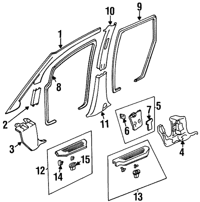 1995 1997 Honda Odyssey 5 Door Seal L Rear Door Opening G38l