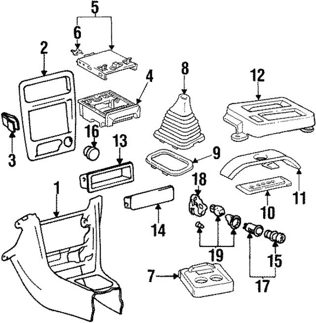 1998 2002 Chevrolet Prizm Cup Holder 94859046