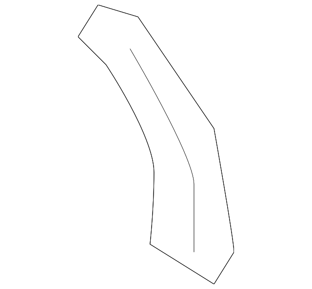 2005-2012 Acura RL SEDAN Cover, R Rear Pillar Garnish