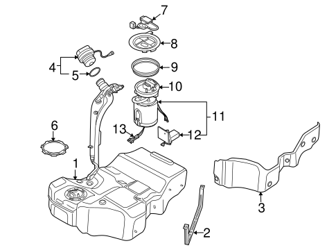 Fuel System Components For 2009 Volkswagen Passat
