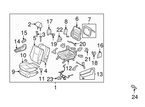 Passenger Seat Components For 2011 Toyota Tundra