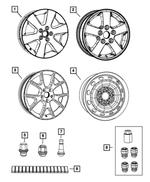 Wheel Lock Set - Mopar (5105834AA)