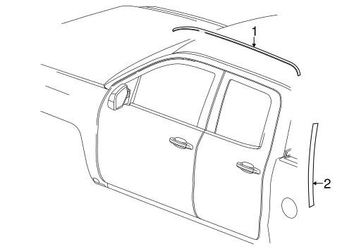 Exterior Trim Cab Scat on 2014 Camaro Lt Engine