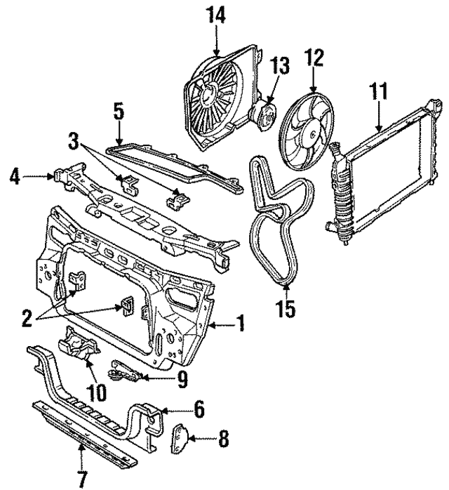 1993 2000 Ford Serpentine Belt Xf2z8620hb