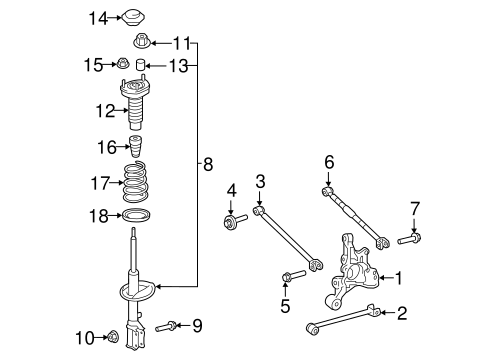 REAR SUSPENSION/REAR SUSPENSION for 2016 Toyota Camry #2