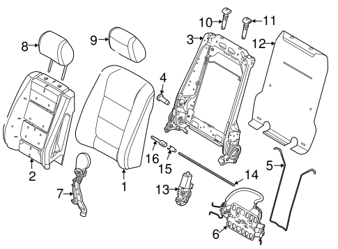 Body/Front Seat Components for 2015 Ford Explorer #1
