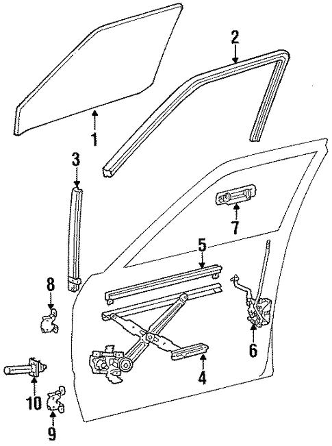 Front Door for 1989 Toyota Land Cruiser #0