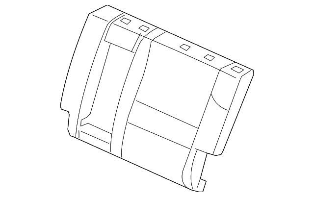 Honda Genuine 82522-TK8-A01 Seat Back Pad