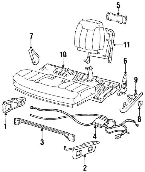 GM OEM Seat Track-Seat Track 15678250