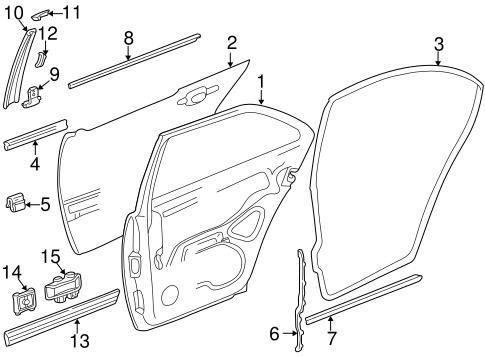 Exterior Trim Rear Door For 2002 Mercedes Benz E 55 Amg Rbm Parts
