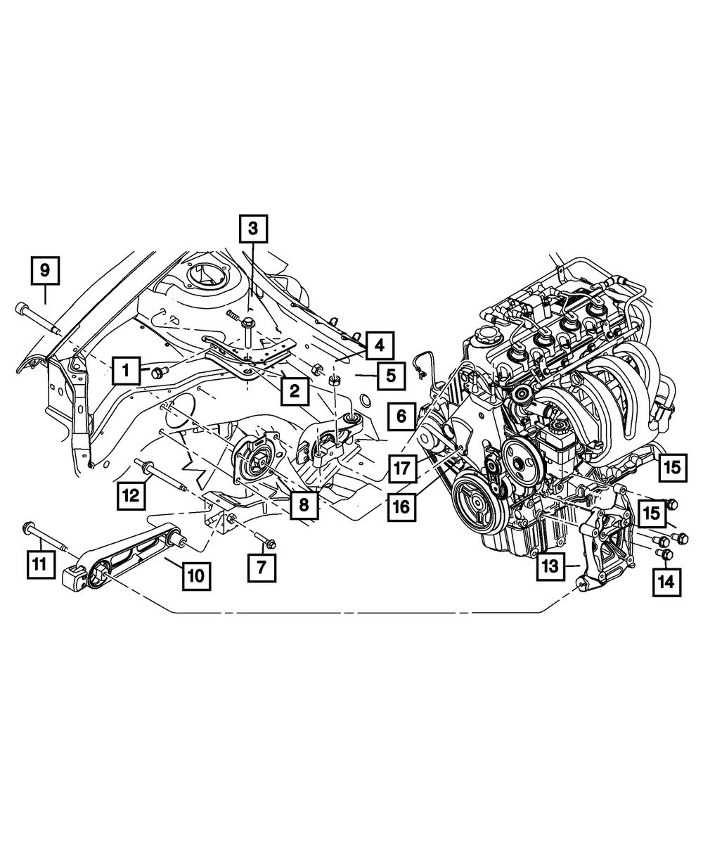 Dodge Neon Engine Motor Mount Support  U0026 Bolt For Lower