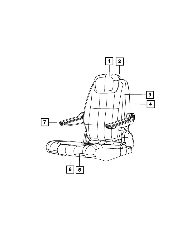05-10 GRAND CARAVAN TOWN /& COUNTRY REAR SEAT LOCKING HEADREST SLEEVE OEM MOPAR