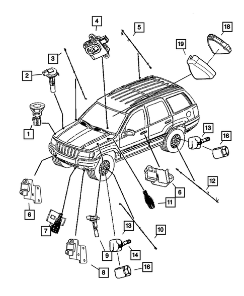 Sensors for 2004 Jeep Grand Cherokee #1