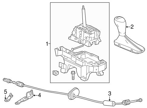 Oem 2013 Chevrolet Malibu Center Console Parts