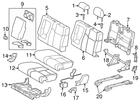 BODY/REAR SEAT COMPONENTS for 2015 Toyota Tundra #1
