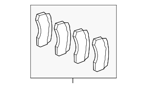 Brake Pads - Mercedes-Benz (007-420-58-20)