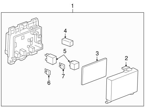 oem fuse relay for 2007 pontiac g6. Black Bedroom Furniture Sets. Home Design Ideas