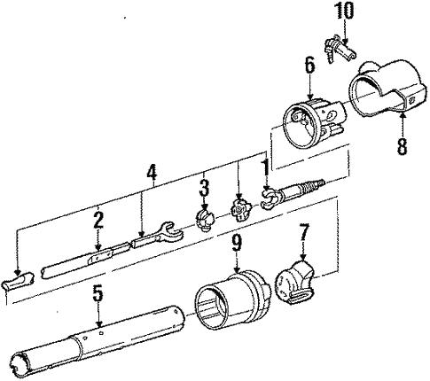 cfc4f56380fe19af5b900346361a4821 oem 1987 chevrolet cavalier steering column assembly parts gm