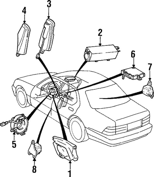 1995 1997 Lexus Ls400 Clock Spring 84306 50120