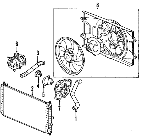 Saturn Ion Radiator Diagram