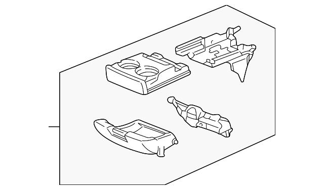 Honda Genuine 77295-S10-A01ZA Center Console Pocket Assembly