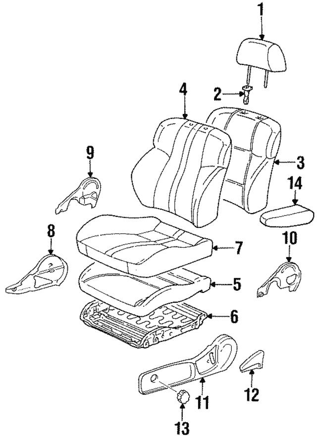 TOYOTA Genuine 71861-02030-C0 Seat Cushion Shield