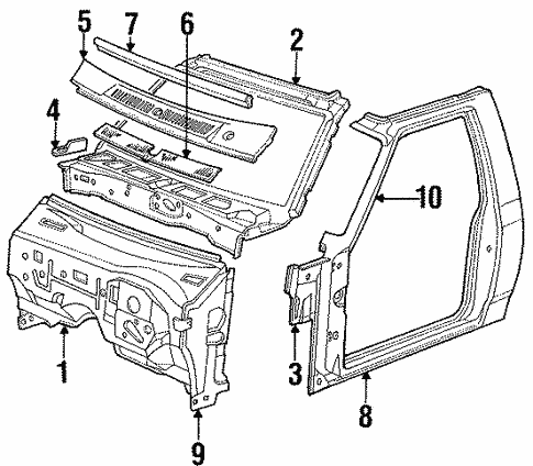 Side Panel Components For 1996 Dodge Dakota