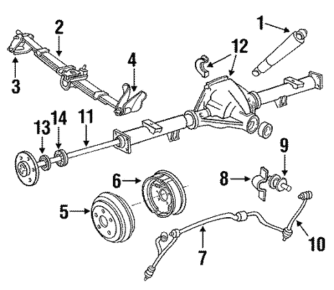 Oem 1987 Ford F150 Stabilizer Bar Ponents Parts. Rear Suspensionstabilizer Bar Ponents For 1987 Ford F150 1. Ford. 1987 Ford Rear Suspension Parts Diagram At Scoala.co