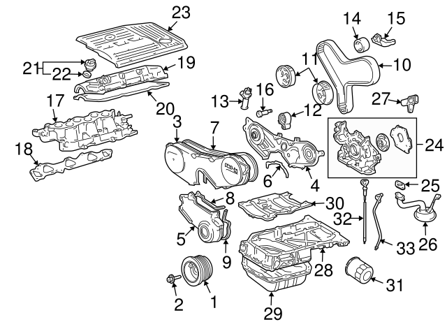 2004 2008 lexus tube gasket 15147 20010 keyeslexusparts Lexus RX330 Interior Parts Diagram