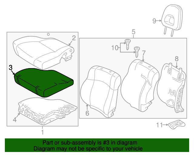 TOYOTA Genuine 71511-42020 Seat Cushion Pad