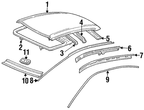 Roof Components For 1996 Toyota Corolla