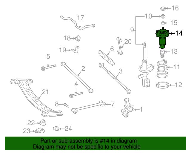 Toyota 48540-A9070 Suspension Strut Assembly