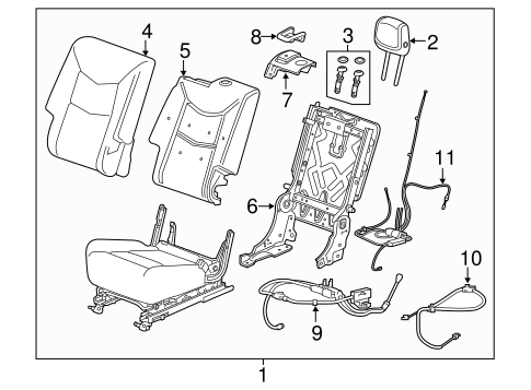 Rear Seat Components For 2017 Gmc Acadia