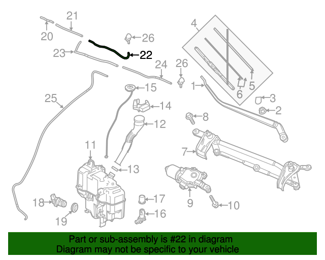 Washer Hose - Mazda (C243-67-501) | Quirk Parts